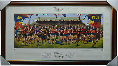 Fitzroy Team of the Century Signed by Jamie Cooper Limited Edition Print Framed
