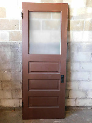 Antique Victorian Interior/Exterior Glass Door - 1885 Fir Architectural Salvage