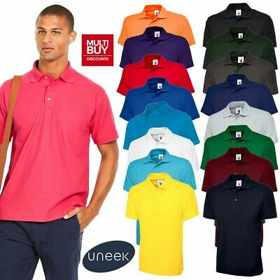 UNEEK CLASSIC PLAIN POLO SHIRT • Mens Womens Casual Work Top UC101 • 17 Colours