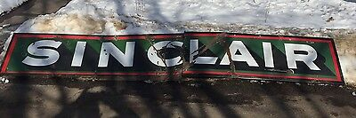 Sinclair 13' Porcelain Gasoline Gas Oil Sign Rusty But Original