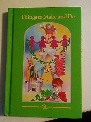 039 Vintage Book Thiings to Make and Do Child Horizons Douglas Downey Wisiol