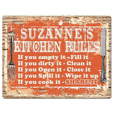 Ppkr0033 Anna S Kitchen Rules Plate Chic Sign Home Kitchen