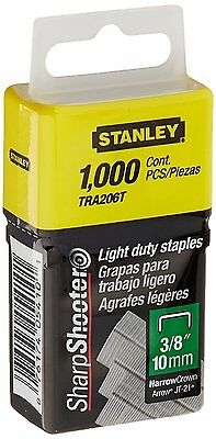 Stanley Tra206T 3/8 Inch Light Duty Staples, Pack of 1000Pack of 1000