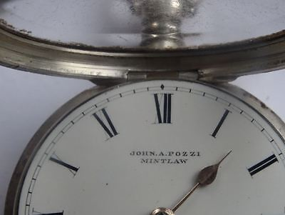Silver Pair Cased Fusee Pocket Watch, Scottish Provincial Maker, Pozzi, Mintlaw