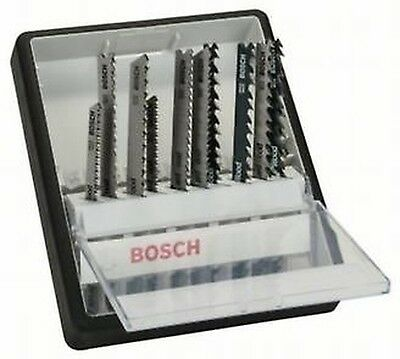 Bosch per 10 PCE. Jigsaw blade Set Robust Line Wood Expert to Saws in Wood