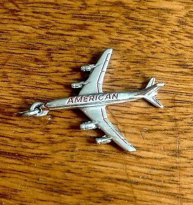 Vintage American Airlines Employees Sterling Pendent Chain Necklace Advertising