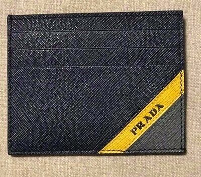 SOLD OUT-NEW Prada Tricolor Saffiano Credit card holder - 100% Auth.- Dec. 2016