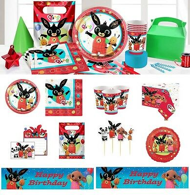 NEW Bing Tableware Party Supplies Birthday Parties Plates Cups Napkins Balloons