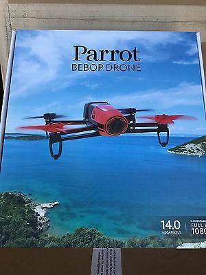 Brand New Parrot Bebop Quadcopter Drone Red PF722000 14MP Full HD 1080p Fisheye
