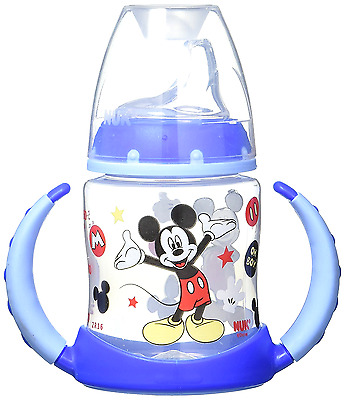 Mickey Mouse Learner Cup Nuk Disney Ounce Silicone Spout New Sippy Pacifiers Set