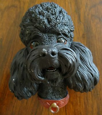 Vintage Bossons England Character Wall Hanging Chalkware Head Black Poodle
