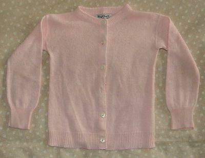 VINTAGE 1950s MID CENTURY BABY GIRL MAY CLAIR LITTLE PINK SWEATER SOFT CARDIGAN
