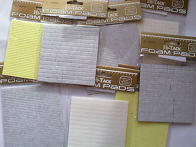 Foam Pads White Black Decoupage Matting Layering  3 5 7 mm Size x 1 2 3 mm Thick