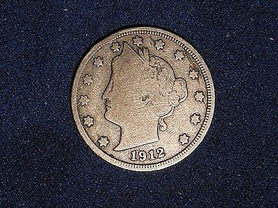 1912-S 5C Liberty V Nickel  ~VG?~