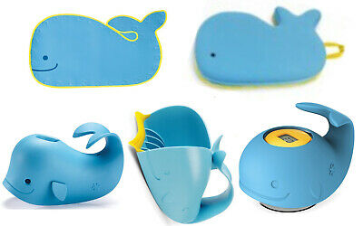 Skip Hop  Moby Bath Kneeler, Thermometer, Mat, Spout Cover & Rinser VALUE PACK