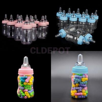 24x Fillable Bottles Baby Shower Christening Favors Party Decorations Girls Boys