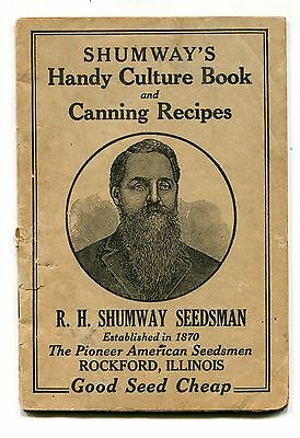 Vintage Garden Catalog Book RH SHUMWAY SEEDSMAN Handy Culture Book Rockford IL
