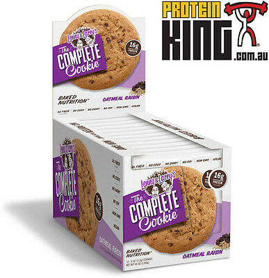LENNY & LARRYS THE COMPLETE COOKIE BOX OF 12 x 113G OATMEAL RAISIN PROTEIN LARRY