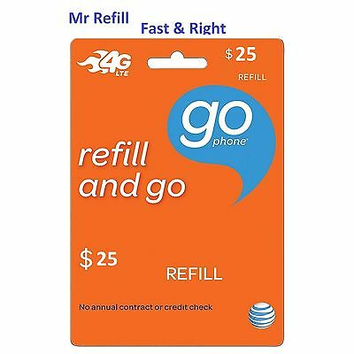 AT&T Go Phone $25 Refill - fast & right