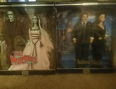 BARBIE collectors item THE MUNSTERS & THE ADAMS FAMILY NIB gift set