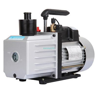 9CFM 3/4HP Single Stage Rotary Vane Vacuum Pump  Air Conditioning A/C 5Pa