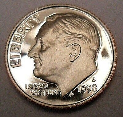 1998 S Roosevelt *proof* Dime  **free Shipping**