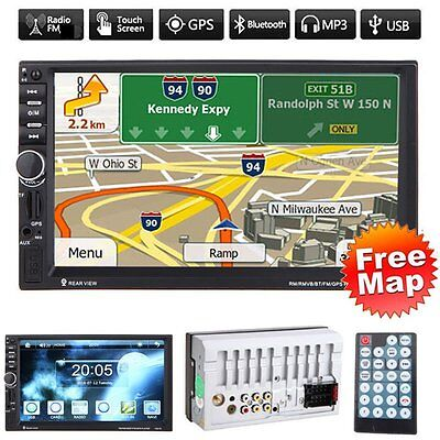 Car Audio 7020G Stereo MP5 Player with Rearview Camera 7 inch Touch Screen DB