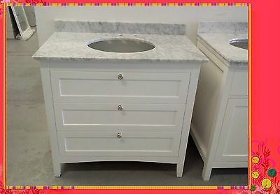 French Provincial Bathroom Vanity Elie 900 White