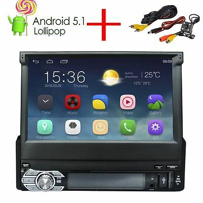 Autoradio 1 Din Android 5.1 estéreo Quad Core Car GPS navegación Bluetooth Radio
