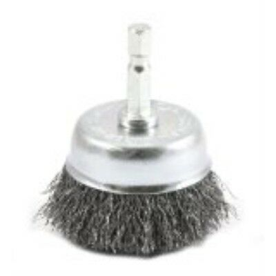 Forney 72729 Wire Cup Brush, Coarse Crimped with 1/4-Inch Hex Shank, 2-Inch-by-.
