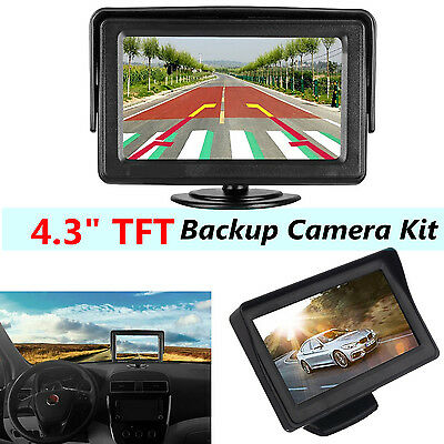 4.3 Inch LCD TFT Rearview Rear view Monitor screen for Car Backup Camera  New US