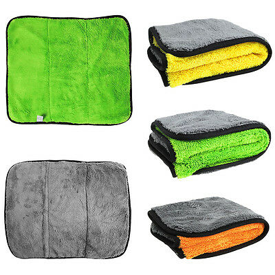 Super Thick Car Care Wax Microfiber Polishing Cleaning Cloths Plush Towels New