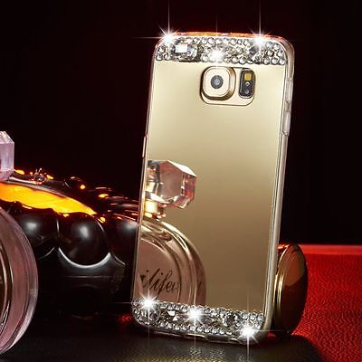 Luxury Bling Crystal Diamond Mirror Phone Case Soft Cover For Samsung Galaxy