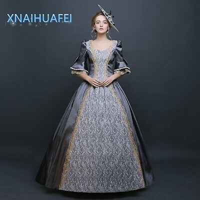 18th Rococo Baroque Cosplay Prom Costume Marie Antoinette Gown Royal Dresses