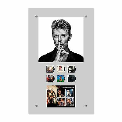 David Bowie Stamps in Acrylic Frame