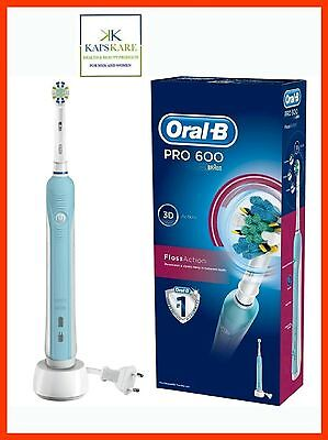 NEW Braun Oral-B PRO 600 Floss Action 3D Action Electric Rechargeable Toothbrush
