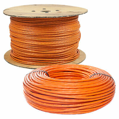 CAT.7 Verlegekabel Netzwerkkabel Installationskabel orange 10m - 1000m  CAT 7