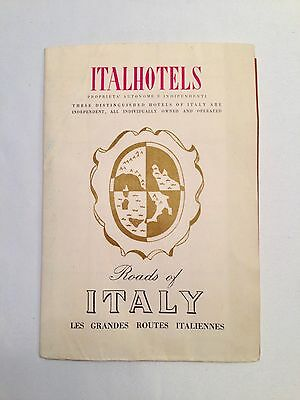 1954 Roads of Italy Map and Tourist Brochure