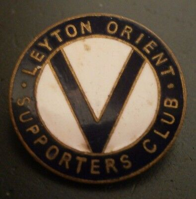 Vintage Leyton Orient Supporters Club Brooch Pin Badge
