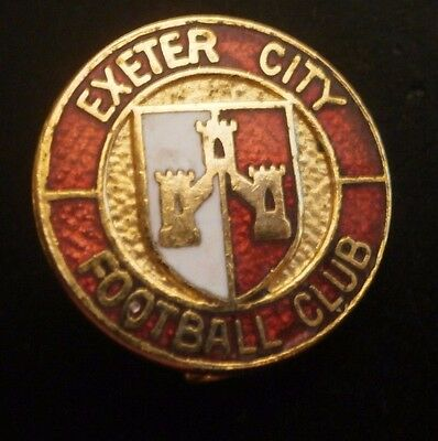 Exeter City Football Club Crest Small Round Brooch Pin Badge