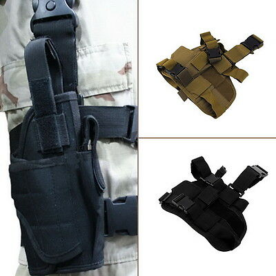 Practical Airsoft Military Tactical Pistol Drop Leg Thigh Holster Pouch NJ