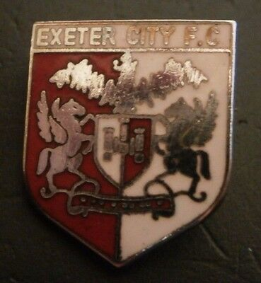 Exeter City Fc Small Shield Type Crest Football Brooch Pin Maker London Badge