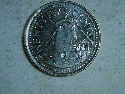 Barbados 25 cents Windmill 2008