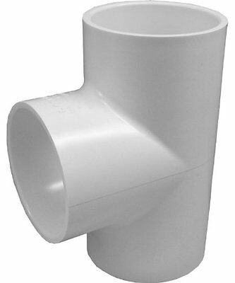 Genova Products 31407CP 3/4-Inch PVC Pipe Tee - 10 Pack
