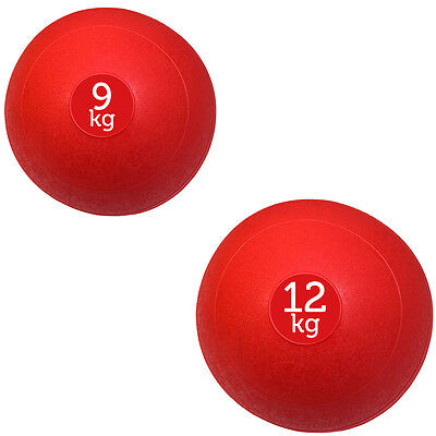 Fxr Sports Red 9/12Kg No Bounce Slam Ball Crossfit Mma Fitness Strength Training