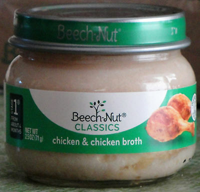 Beech-Nut Classics Stage 1 Chicken and Chicken Broth Baby Food 10  2.5 Oz jars