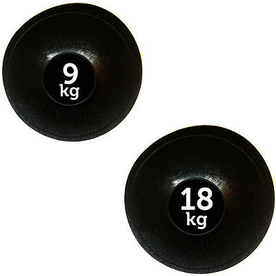 Fxr Sports 9Kg + 18Kg No Bounce Slam Ball Mma Fitness Strength Training Workout