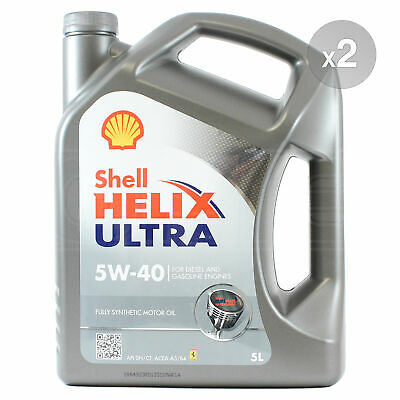 Shell Helix Ultra 5W-40 Fully Synthetic Engine Oil 5W40 2 x 5 Litres 10L