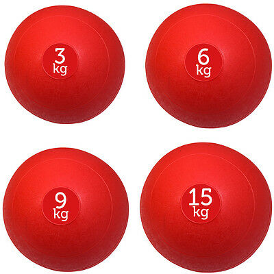 Fxr Sports Set Of 4 Red Slam Balls No Bounce Medicine Ball Fitness - 3,6,9,15Kg