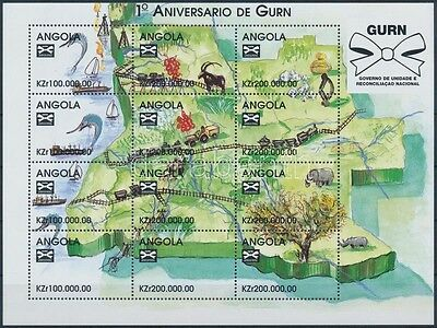 Angola stamp 1st anniversary of Government of National Unity minisheet WS221388